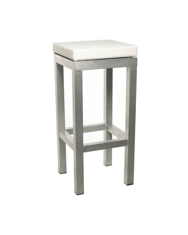 Moderne Witte Barstoelen.Barkruk Design Met Witte Zitting