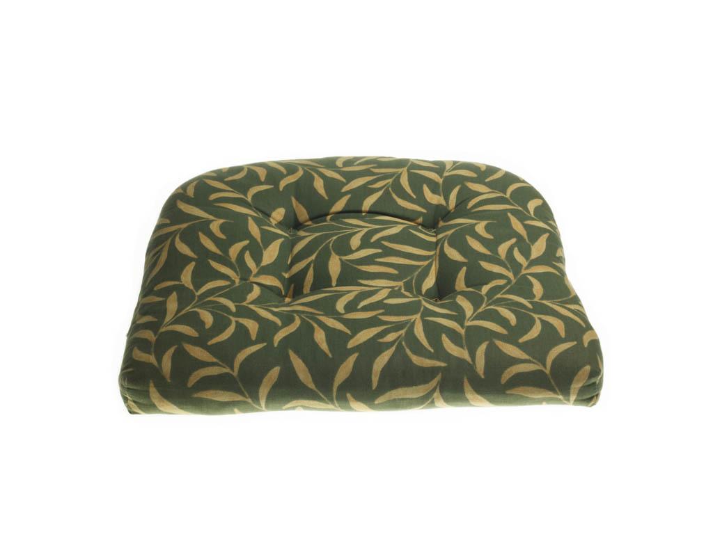 Comfortabel kussentje groen goud voor rotan stoel