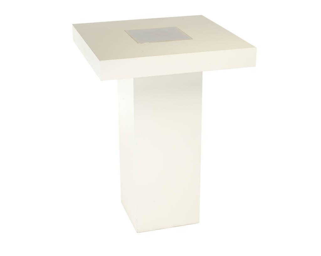 Moderne Witte Statafel.Statafel Led Design Wit 80x80 Cm