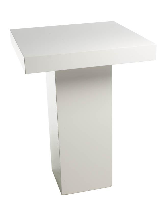 Moderne Witte Statafel.Moderne Statafel Wit Vierkant 80x80 Cm