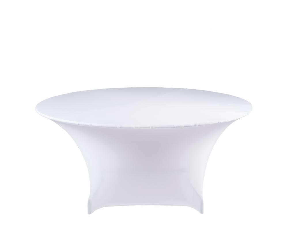 Mooie tafelhoes strak wit voor tafel rond cm
