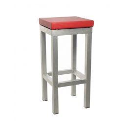 Barkruk Design met rode zitting