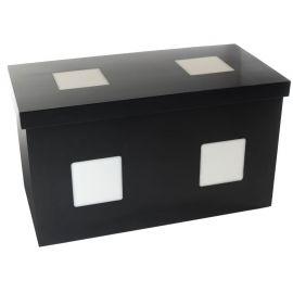 Buffettafel LED-Design, zwart (80x160 cm)