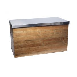 Buffettafel met RVS blad (H)eerlijk hout (80x160 cm)