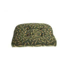 Kussentje groen/goud (voor rotan stoel)