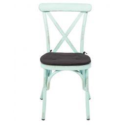 Kussentje zwart ovaal (stoel Vintage/Retro)