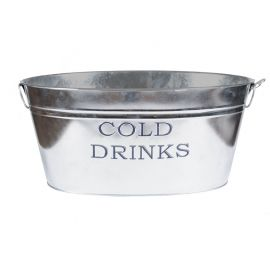"""Zinken teil ovaal, groot, """"cold drinks"""""""