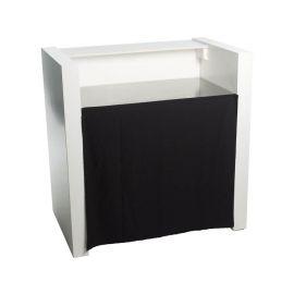 Gordijn 100cm tbv werkblad rvs simple 'round