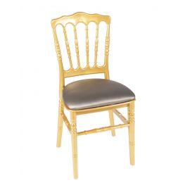 Gouden franse stoel met bronzen zitting