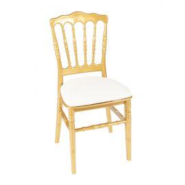 Gouden franse stoel met witte zitting