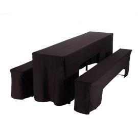 Hoes zwart voor picknickset (2 x bank + 1 x tafel 50 cm)