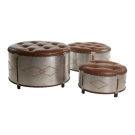 Set poefen rond industrial lounge