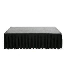 Podiumrok zwart lengte 4,10 meter hoogte 80 cm