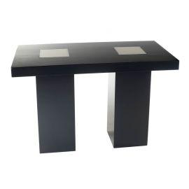 Statafel LED-Design, zwart (80x160 cm