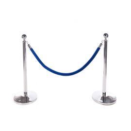 Blauw velours koord