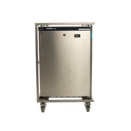 Koelkast, 130 liter, RVS, tafelmodel