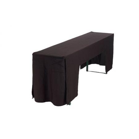 Hoes zwart (voor picknicktafel breedte 50 cm)