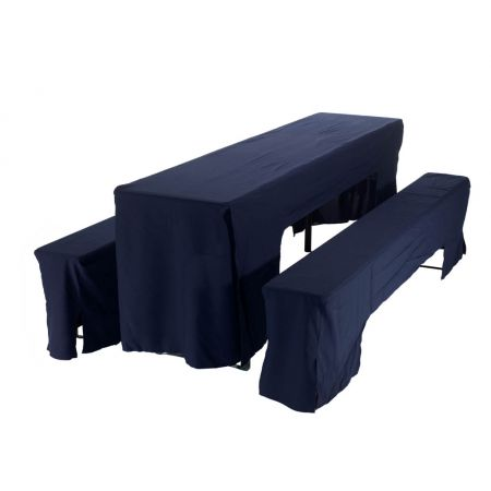 Hoes blauw voor picknickset (2 x bank + 1 x tafel 50 cm)