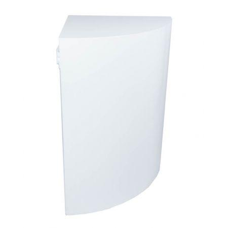Rond hoek-/tussenstuk balie/barombouw simple 'round wit