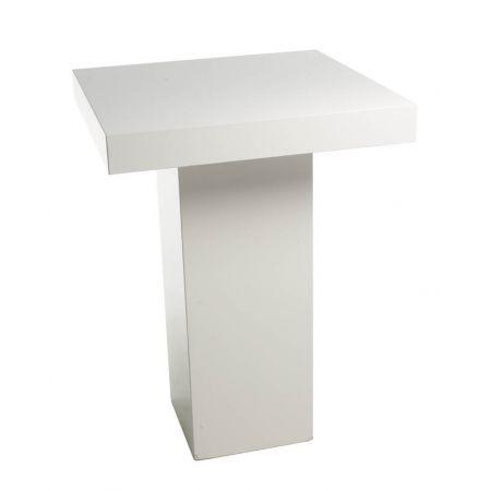 Statafel wit vierkant (80x80 cm)