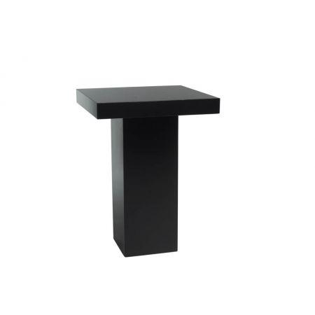 Statafel zwart vierkant (80x80 cm)