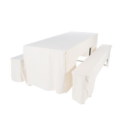 Hoes ecru voor picknickset (2 x bank + 1 x tafel 80 cm)