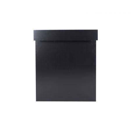 Tussenplaat 100 cm balie/barombouw simple 'round zwart