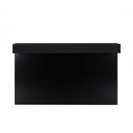 Tussenplaat 200 cm balie/barombouw simple 'round zwart